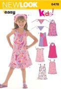 6478 New Look Pattern: Child's Dresses